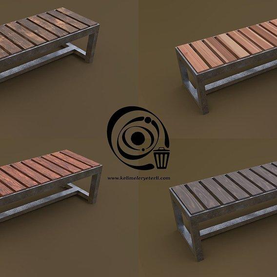 Bench 15 4in1 - 4 Texture 1 Model