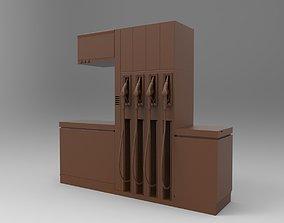 Gas Station 3D print model