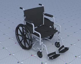 Wheel Chair 3D model game-ready
