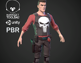 3D model animated game-ready Character soldier