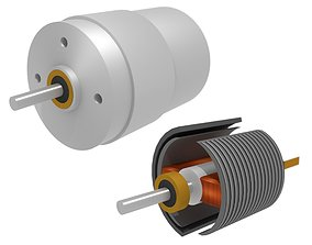 DC Electric Motor 2 coils 3D