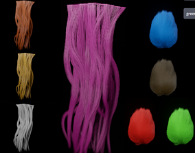 3D Hair models textures collection