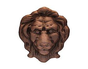 Lion Head Relief 3D model