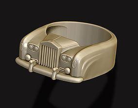 3D printable model car ring 19