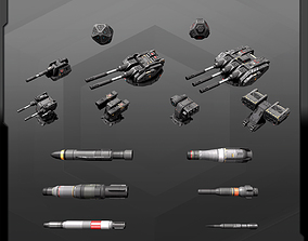 Weapons Spaceships Pack 3D asset