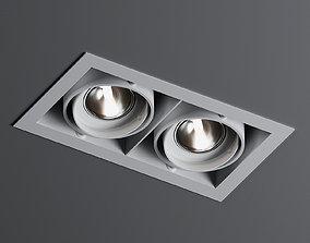 3D model MINIGRID IN 2 50 Recessed Lamp by Delta Light