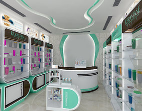 pharmacy stand interior 1 3D asset
