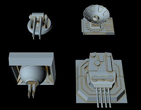 3D model Turbolaser canons for big imperial ships