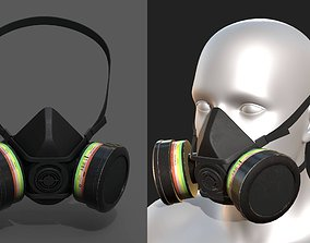 Gas mask helmet 3d safety resperator protection game-ready