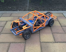 3D printable model scalecar 1-10 RC Drift Chassis