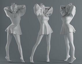 3D print model Women wear skirts 003