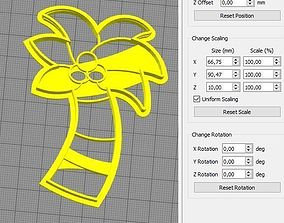 3D print model Palmera Cookie Cutter