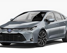 compact Toyota Corolla Hybrid 2020 3D model