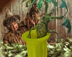 3D print model mandrake root plants from the Harry Potter