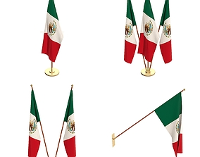 Mexico Flag Pack 3D