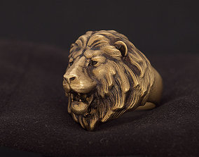 Lion animal head ring jewelry 3D printable model