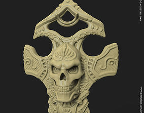 3D print model Biker skull vol8 pendant hand made style