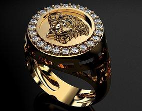 Versace Ring for Men 3D printable model diamond