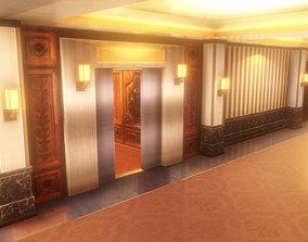 3D model Anime Style Corridor