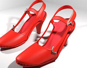 3D High-heeled Shoe - Type 5