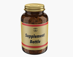 3D model capsule Medicine Bottle
