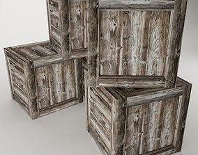 Wooden Box interior 3D asset game-ready