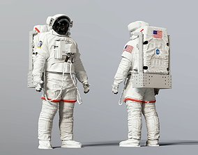 sci SPACESUIT NASA EMU SAFER 3D model