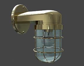 game-ready 3D Wall mounted bulkhead lamp