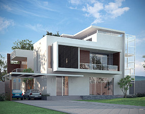 3D Models Luxury Contemporary House