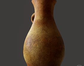 Ancient Terracotta Spouted Vase 3D asset