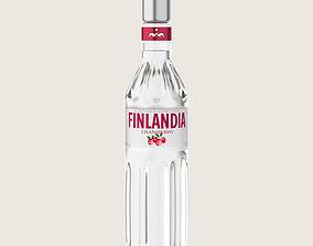 Finlandia Original Classic Cranberry Bottle 3D asset 2