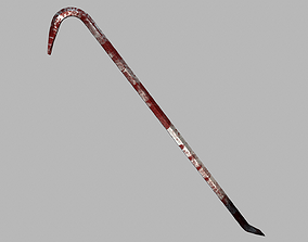 Bloody Crowbar Game Ready PBR 3D asset
