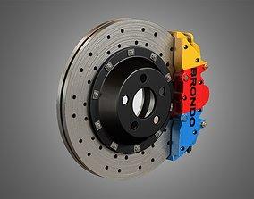 3D model Brake Disk and Caliper
