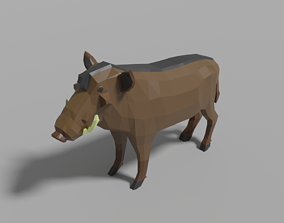 3D model Cartoon Warthog