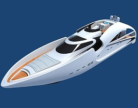Luxury Sport Yacht 3D model