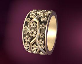 Wedding Rings silver blossom 3D printable model