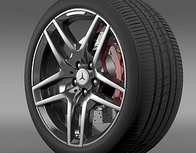 3D AMG Mercedes Benz S 500 wheel