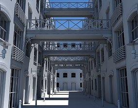 european 3D Building Alleyway