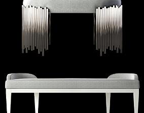 3D Bernhardt Calista Bench