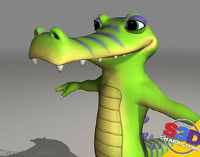 3D Crocodile toon