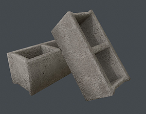 Concrete Block PBR Game Ready 3D asset