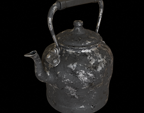 3D model Old rusty kettle