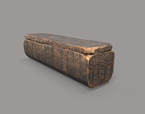 3D model Egyptian Wooden Coffin