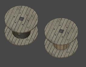 Cable Reels 3D asset