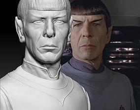 3D print model mr Spock bust Leonard Nimoy Star Trek