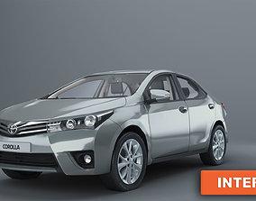 Toyota Corolla 2014 with interior e170 sedan 3D asset