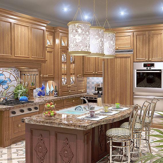 Kitchen (Blender + VRay)