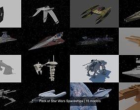 Pack of Star Wars Spaceships 3D model