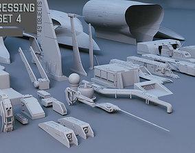 Scifi dressing kitbash set 4 3D model collection