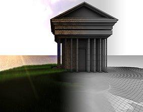architecture temple 3D model